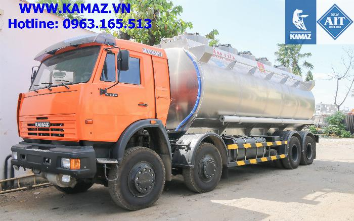 Xe bồn xăng dầu 25 khối, xe chở xăng dầu 25 khối, xe xăng kamaz 25 khối, xe bồn xăng dầu kamaz 6
