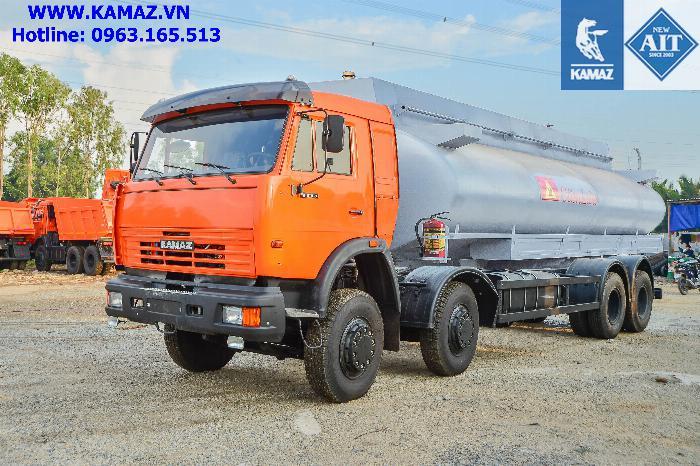 Xe bồn xăng dầu 25 khối, xe chở xăng dầu 25 khối, xe xăng kamaz 25 khối, xe bồn xăng dầu kamaz 8