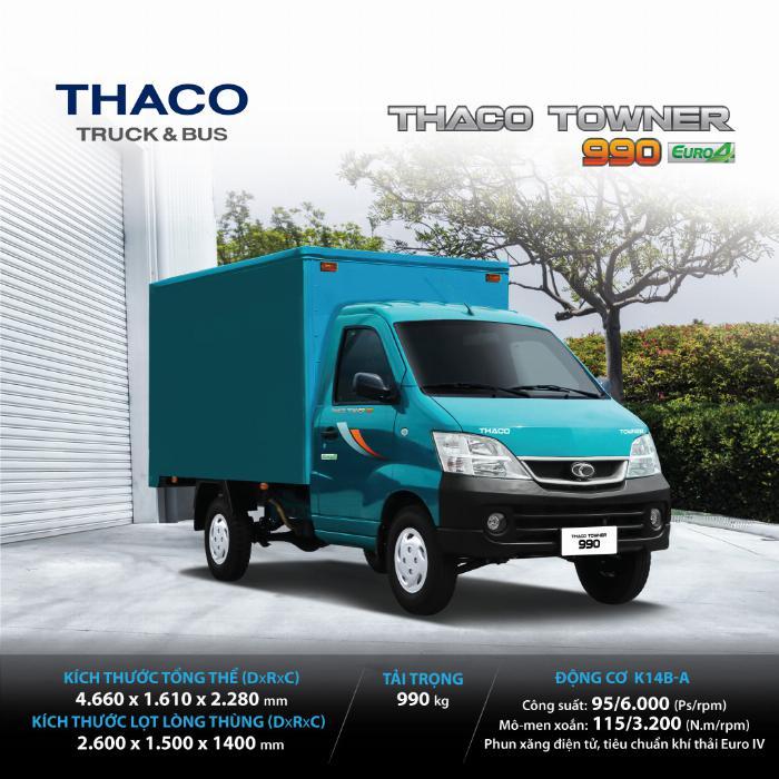 bán xe tải nhẹ thaco towner 990 1 tấn