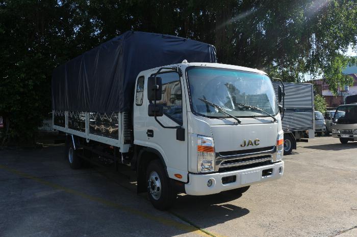 Xe tải jac N650 6.5 tấn thùng bạt 6m2 động cơ cummin nhập | Hỗ trợ trả góp 3