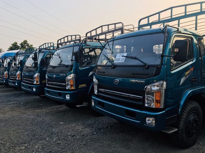 Giá xe tải chiến thắng 7.2 tấn ga cơ - thùng dài 6m7 | Giá thanh lý 4