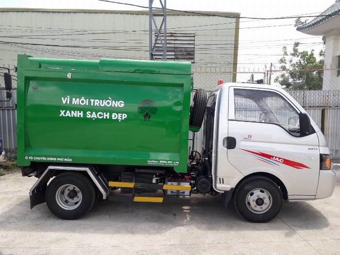 Xe tải chở rác 3 khối 5 giá tốt nhất hiện nay 2