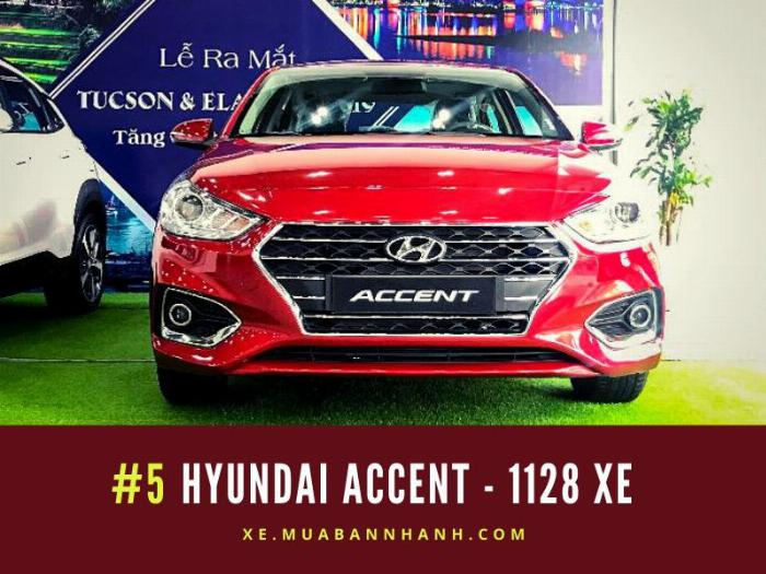 Hyundai Accent: Doanh số 1128 xe