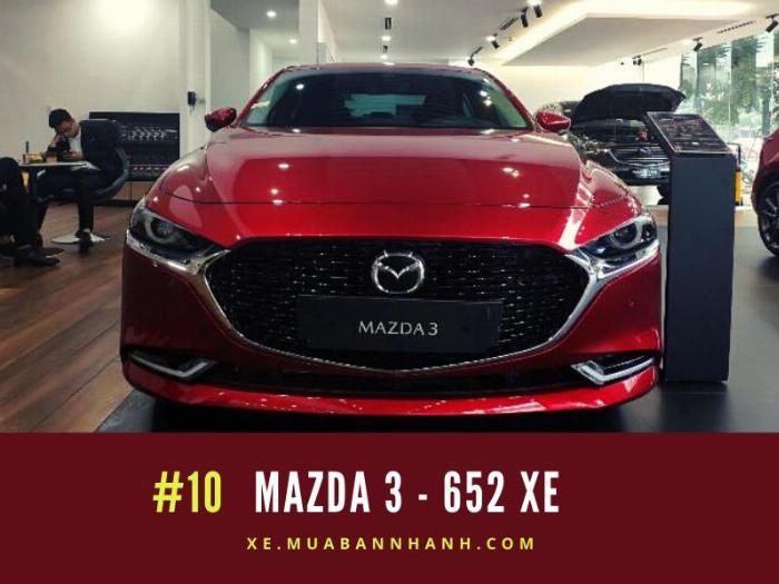 Mazda 3: Doanh số 652 xe