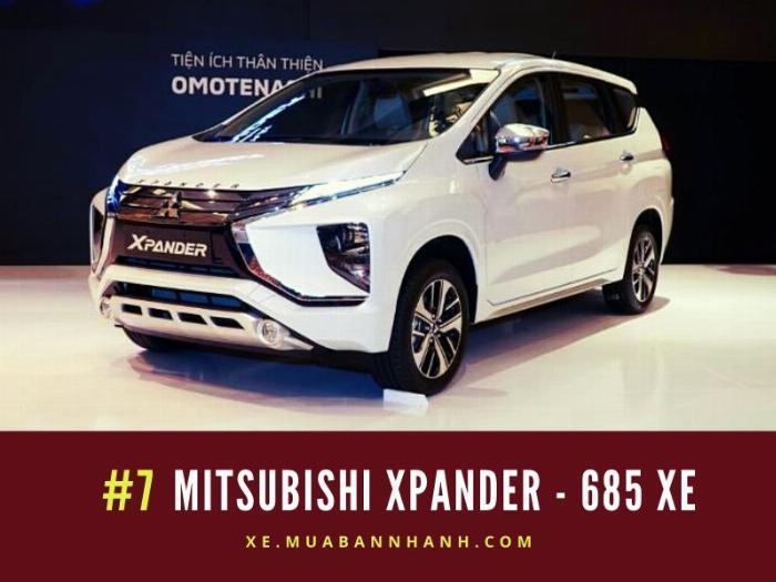 Mitsubishi Xpander: Doanh số 685 xe