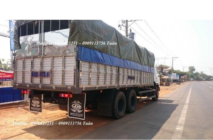 Tải thùng Kamaz 14 tấn thùn 7,8m nhập khẩu | Kamaz thùng tại Bình dương