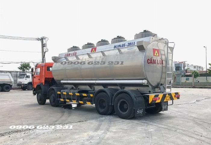 Xe bồn xăng dầu 4 giò Kamaz/ Kamaz xăng dầu bồn nhôm 25m3 2