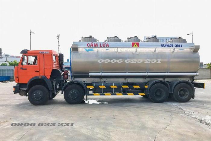 Xe bồn xăng dầu 4 giò Kamaz/ Kamaz xăng dầu bồn nhôm 25m3 1