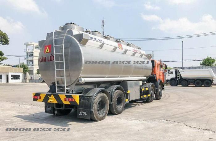 Xe bồn xăng dầu 4 giò Kamaz/ Kamaz xăng dầu bồn nhôm 25m3 5