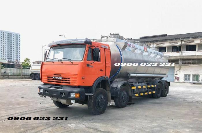 Xe bồn xăng dầu 4 giò Kamaz/ Kamaz xăng dầu bồn nhôm 25m3 4