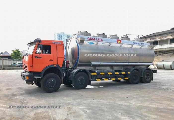 Xe bồn xăng dầu 4 giò Kamaz/ Kamaz xăng dầu bồn nhôm 25m3 6
