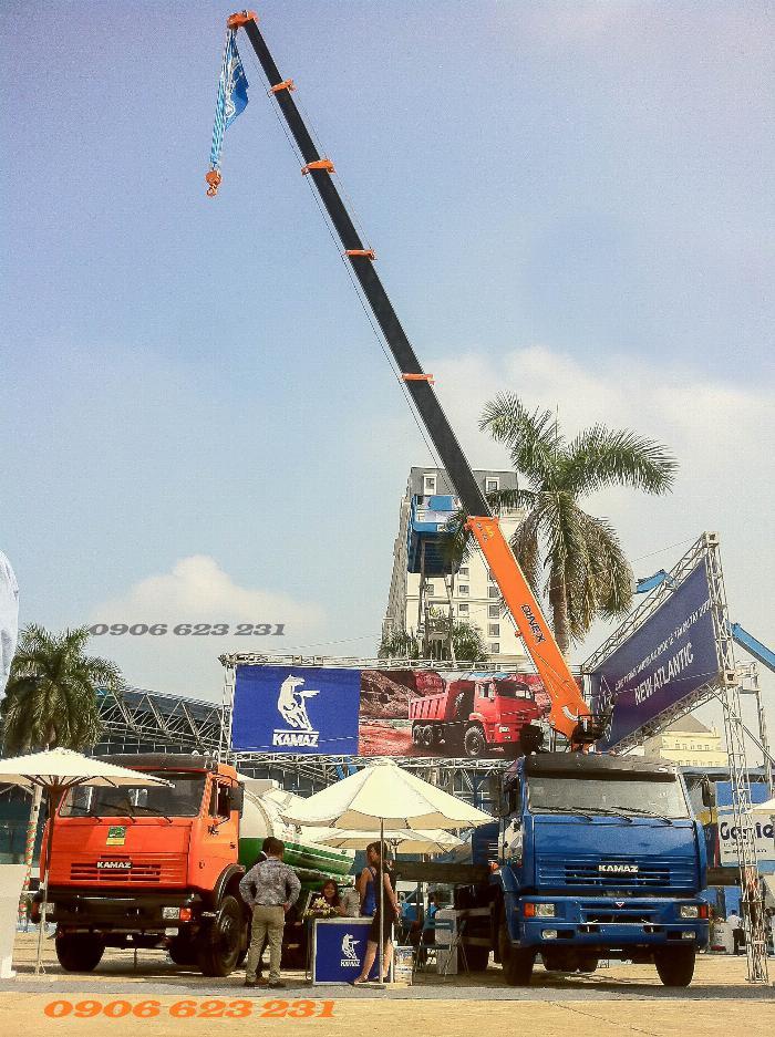 Xe tải cẩu 7 tấn/ Tải cẩu 7 tấn / Kamaz gắn cẩu 7 tấn Kanglim, HKTC & Unic