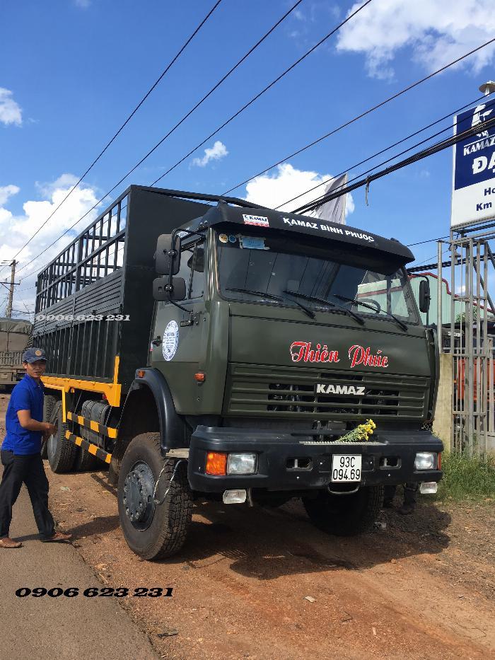 Xe tải thùng 53228 (6x6) 3 cầu chủ động | Kamaz 53328 thùng 6,7m 10