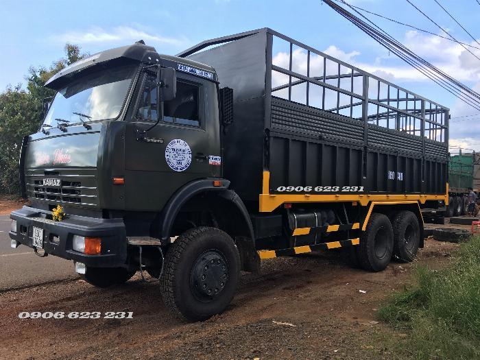 Xe tải thùng 53228 (6x6) 3 cầu chủ động | Kamaz 53328 thùng 6,7m 12