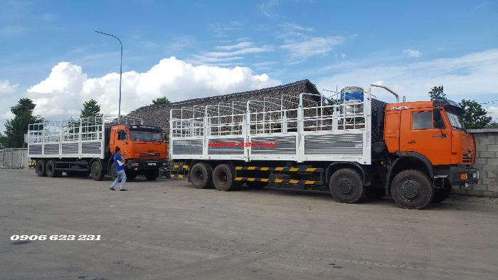 Cần Bán 6 xe tài thùng Kamaz 17,9/30 tấn thùng 9m đóng chắc chắn 6