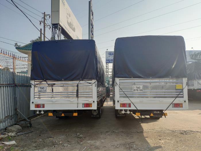 Đại lý xe tải isuzu 1t9 - thùng bạt 6m2 chở hàng bao bì giấy vào thành phố 6