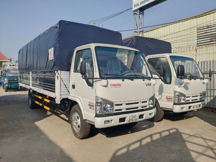 Đại lý xe tải isuzu 1t9 - thùng bạt 6m2 chở hàng bao bì giấy vào thành phố 3