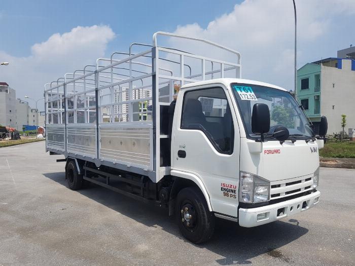 Đại lý xe tải isuzu 1t9 - thùng bạt 6m2 chở hàng bao bì giấy vào thành phố 2