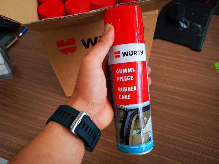 Dung Dịch Bảo Dưỡng Phục Hồi Ron Cao Su Wurth Rubber Care 300ml Tặng Khăn-WRC330 3
