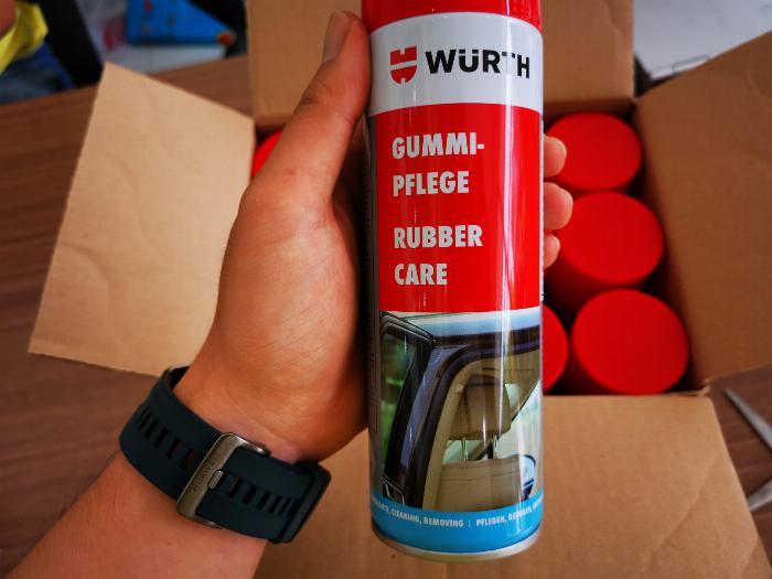 Dung Dịch Bảo Dưỡng Phục Hồi Ron Cao Su Wurth Rubber Care 300ml Tặng Khăn-WRC330 2