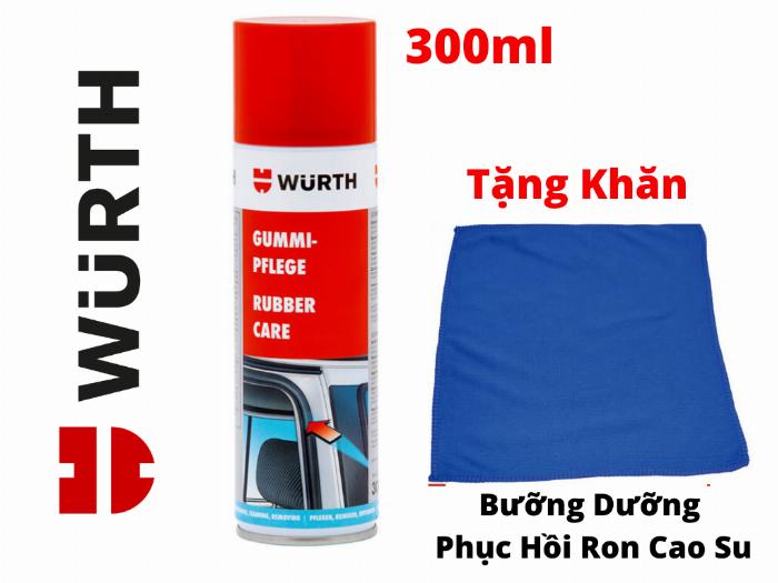 Dung Dịch Bảo Dưỡng Phục Hồi Ron Cao Su Wurth Rubber Care 300ml Tặng Khăn-WRC330 0