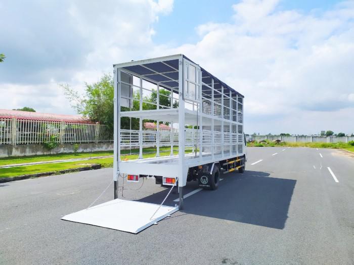 Báo giá xe tải isuzu vm 1,8t Thùng chở xe máy 6,2m bửng nâng 2