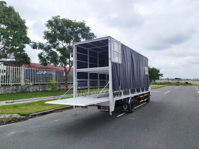 Báo giá xe tải isuzu vm 1,8t Thùng chở xe máy 6,2m bửng nâng 4