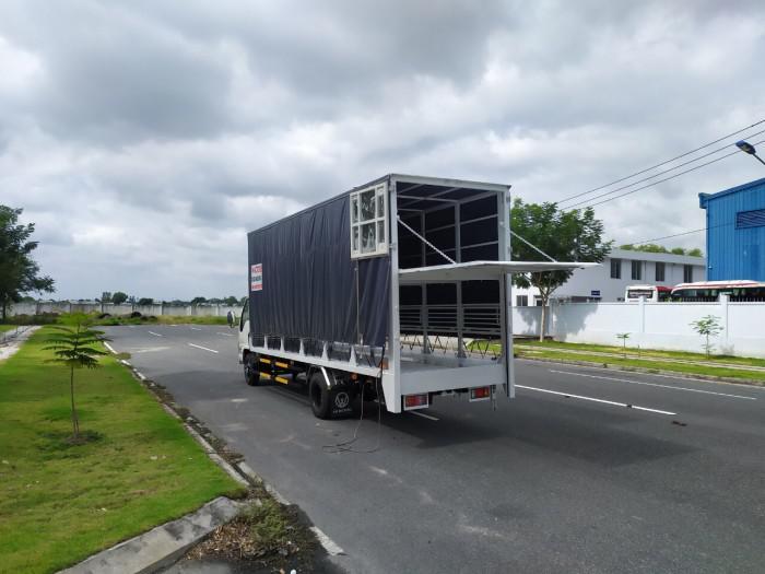 Báo giá xe tải isuzu vm 1,8t Thùng chở xe máy 6,2m bửng nâng 3