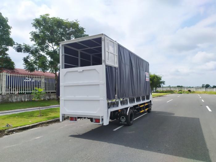 Báo giá xe tải isuzu vm 1,8t Thùng chở xe máy 6,2m bửng nâng 5