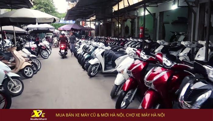 Mua bán xe máy cũ & mới Hà Nội, chợ xe máy Hà Nội