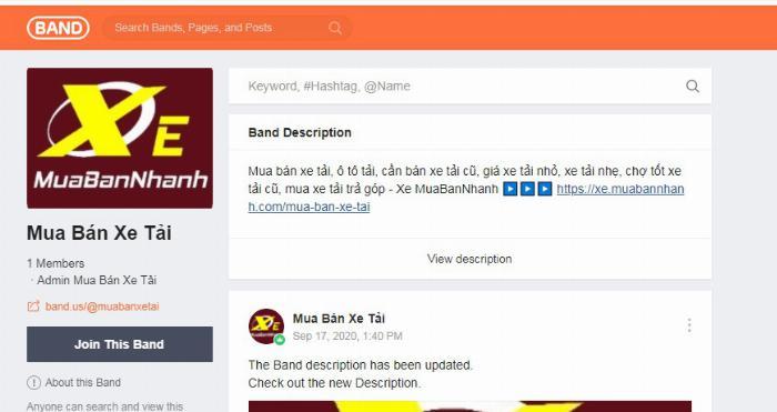Band Mua Bán Xe Tải