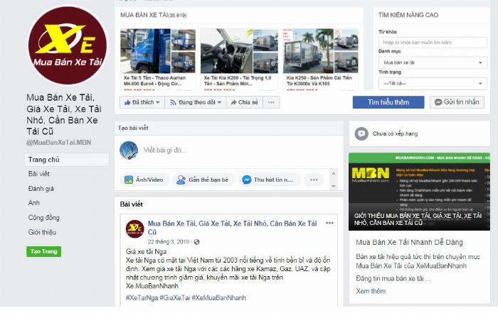 Facebook của Mua bán xe tải