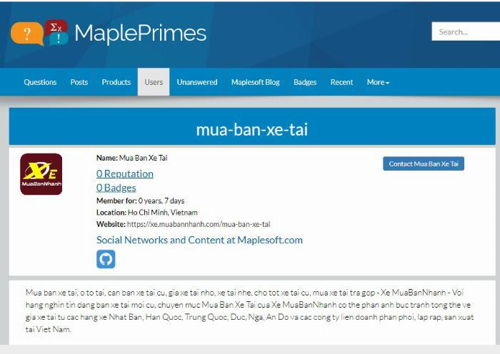 Mua Bán Xe Tải cập nhật thường xuyên trên Mapleprimes