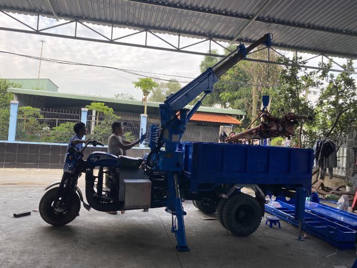 Giá xe ba bánh máy dầu Kubota gắn cẩu tự hành - XeMuaBanNhanh