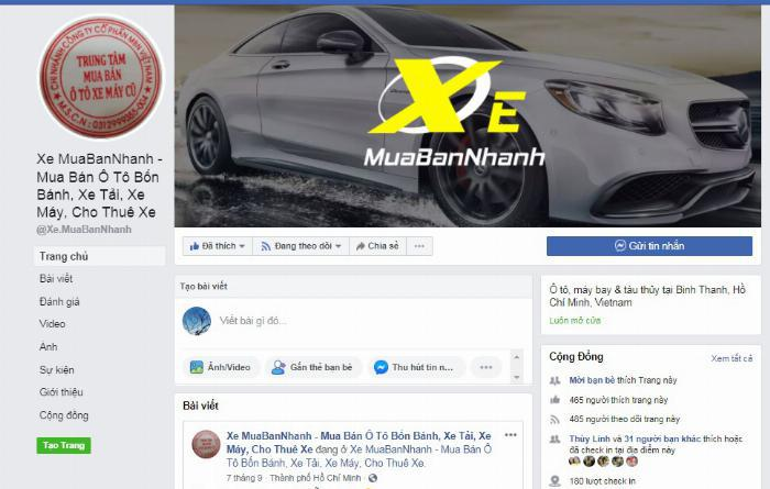Facebook XeMuaBanNhanh