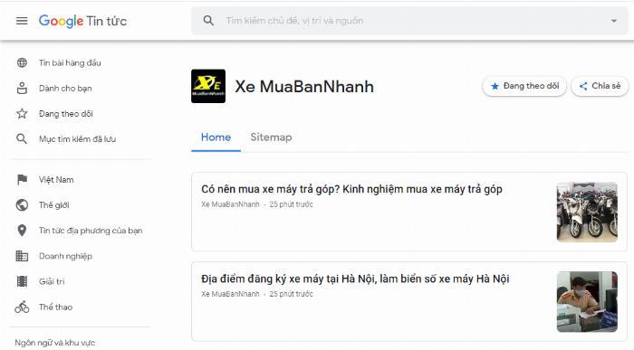 Google News XeMuaBanNhanh
