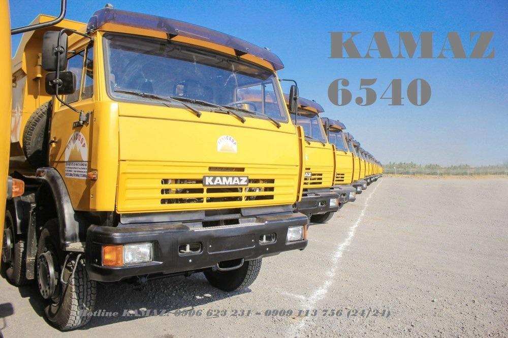 Xe ben Kamaz 4 giò / Bán xe ben 4 chân Kamaz 15m3 nhập khẩu Nga [Trả góp]