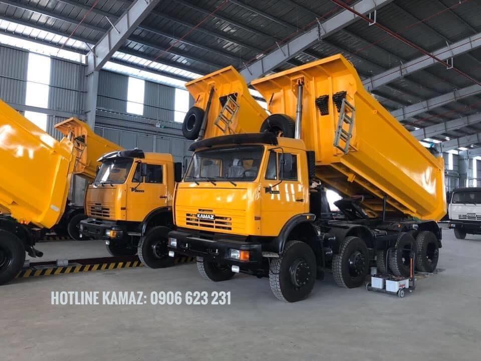 Xe ben Kamaz 4 giò thùng 15m3 / Mua bán xe ben 4 chân Kamaz nhập khẩu [ Trả góp]