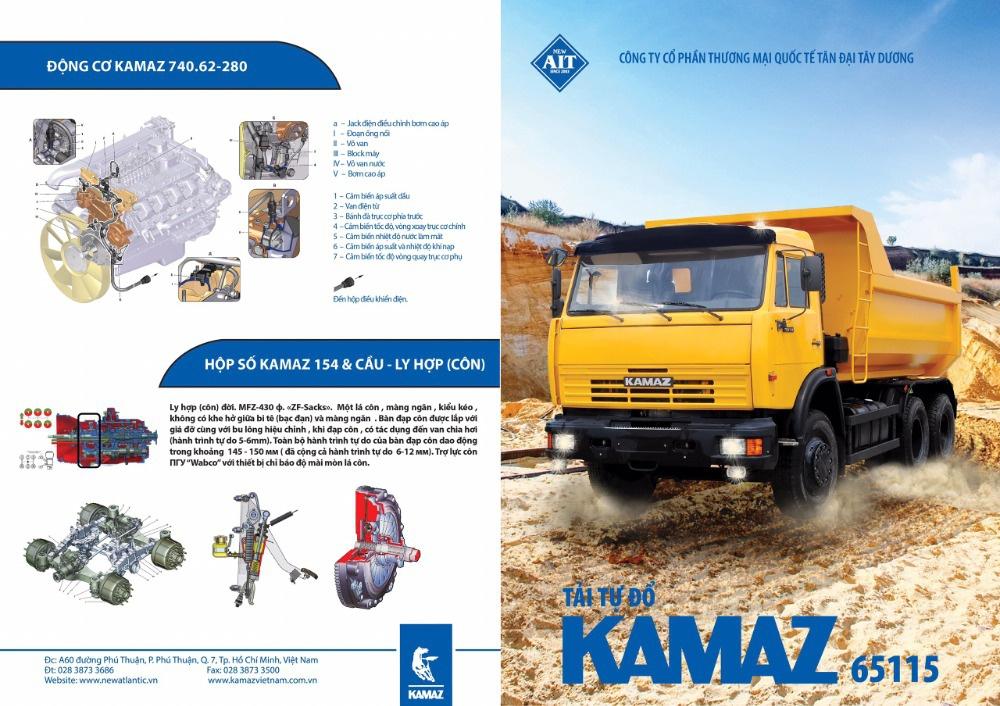 Xe ben Kamaz 3 giò / Bán xe ben Kamaz 15 tấn (12m3) nhập khẩu