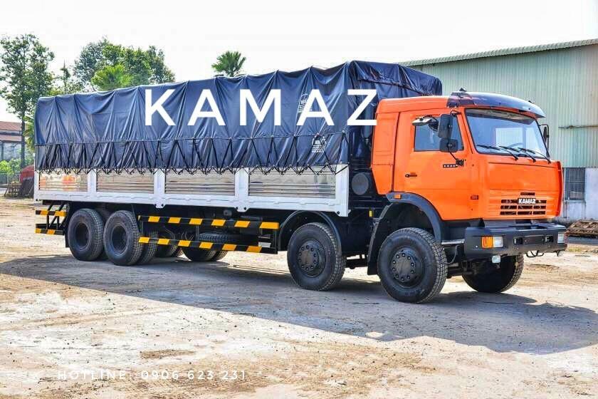 Tải thùng Kamaz 6540 thùng dài 9m/ Tải thùng Kamaz 4 giò nhập khẩu [Trả góp]