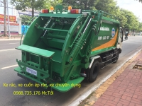 Xe rác HINO 5 khối, thùng INOX 2019