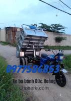 Xe Hoa Lâm (Bến Tre) máy 200cc thắng dầu bánh đôi thùng chở dừa, trái cây đường nhỏ hẹp