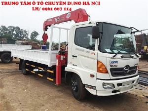 Xe tải 7 tấn HINO FC9JLSW gắn cẩu 5 tân 3 đốt UNIC model URV553 | Khuyến mãi 2% thuế trước bạ khi mua xe