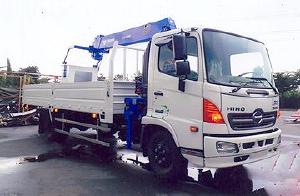 Xe tải 6,4 tấn HINO FC9JLTA Euro4 gắn cẩu 3 tấn TADANO model TM-ZE304MH thùng dài 6m |