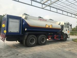 Bán xe téc xăng dầu Dongfeng  gắn cột bơm cấp lẻ. Dung tích bồn 14 khối.
