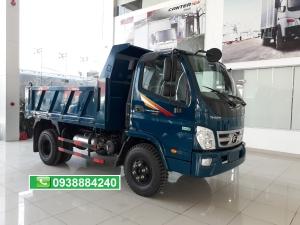 Bán trả góp xe ben 5 tấn thùng 4 khối khuyến mãi 50% trước bạ Thaco Forland FD500 E4 Long An Tiền Giang Bến Tre