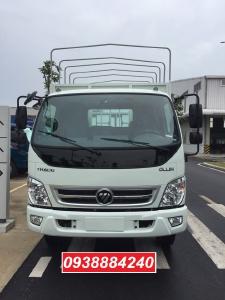Bán trả góp xe tải Thaco Ollin700.E4 ga điện 7 tấn thùng 5.8 mét Long An Tiền Giang Bến Tre (xe trường lái)