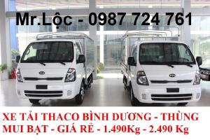 bảng giá xe tải thaco - thaco tải kia - tải trọng 2.5 tấn - giá rẻ.