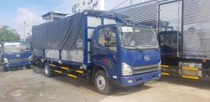 Xe 8 tấn Faw động cơ Hyundai ga cơ thùng dài 6m3 chở nhiều hàng hóa