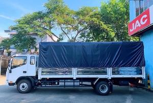 xe tải jac 6 tấn 5 cabin đôi, thắng hơi lốc kê ,thùng 6m2 , hỗ trợ trả góp 70%